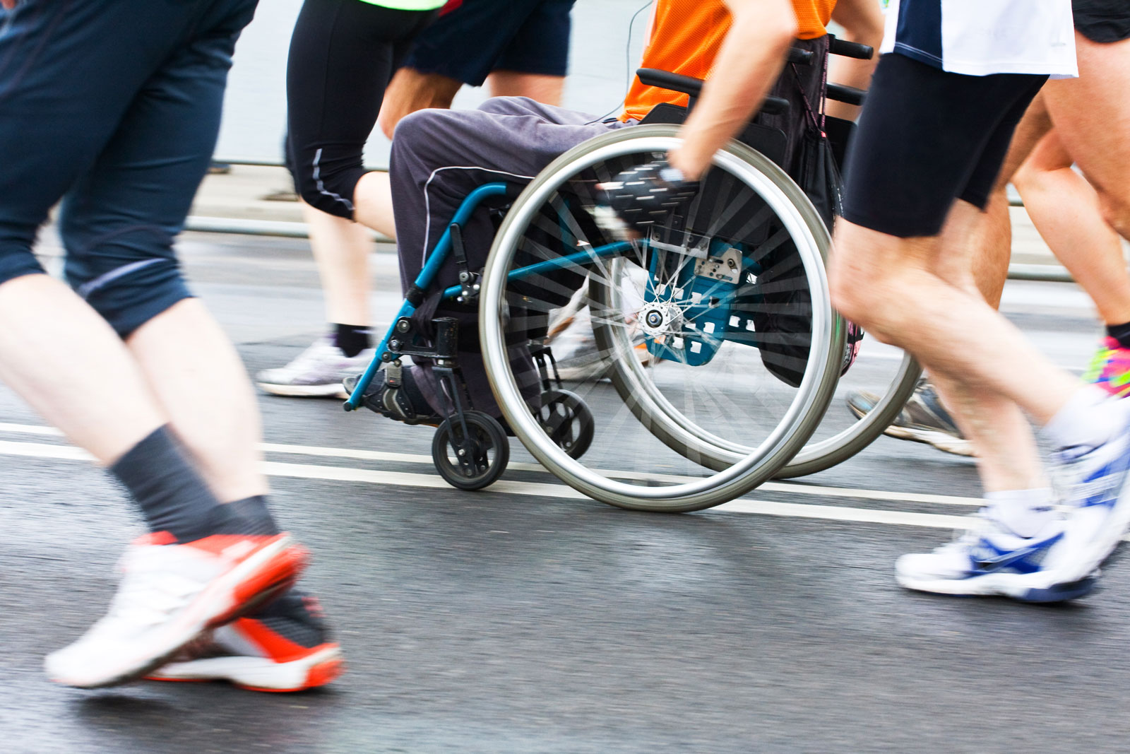 Runners and wheelchair