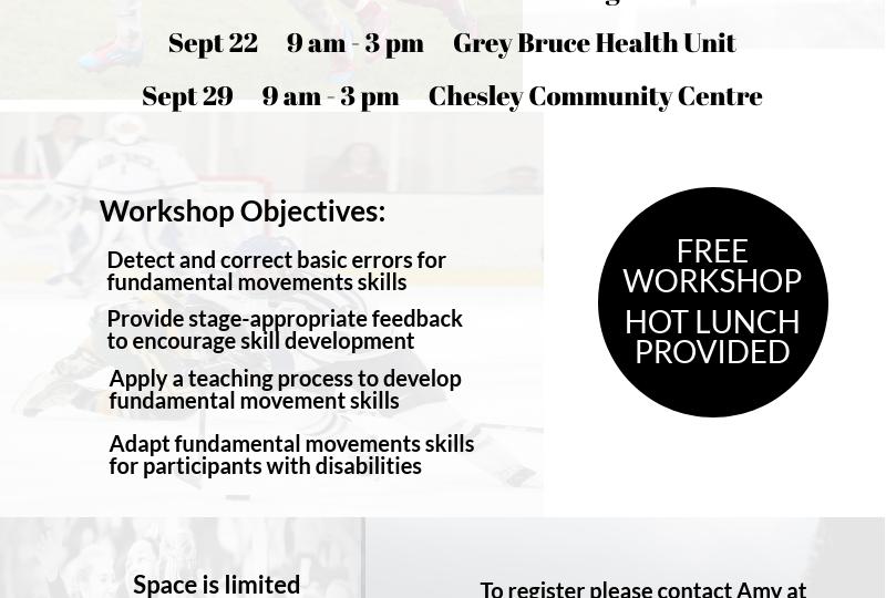 Fundamental Movement Skills Workshop (Sept 2018)