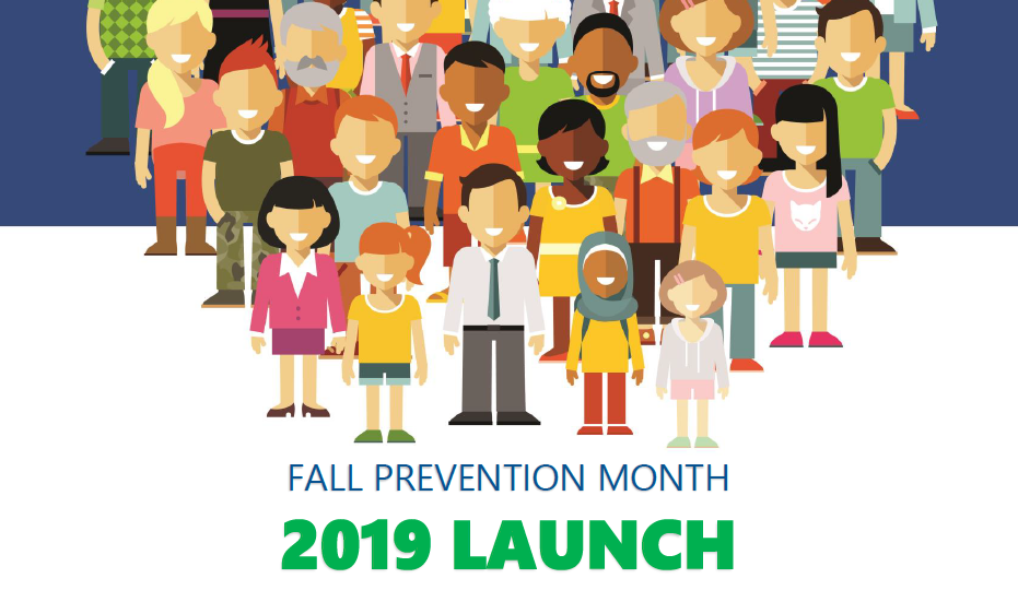 November is Fall Prevention Month. this is a poster for Fall Prevention Month