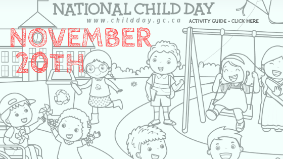 colouring page with children for National Child Day November 20th