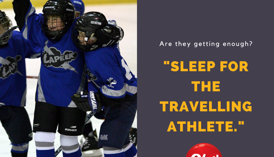 "Kids Playing Hockey ""Sleep for the travelling athlete"""